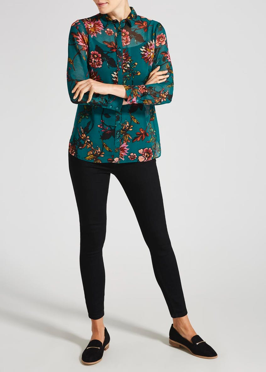 Soon Floral Piped Blouse