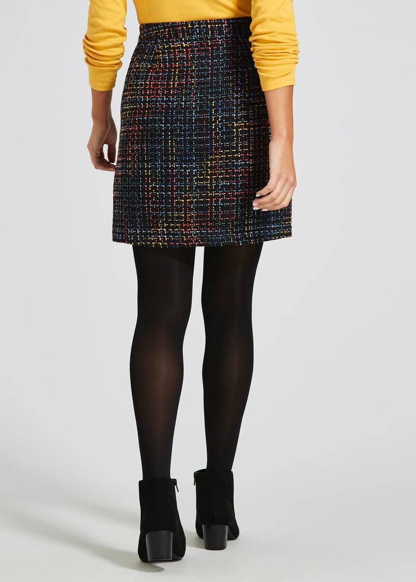 Bright Boucle A-Line Skirt