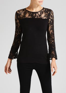 Soon Lace Sleeve Jumper