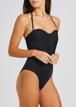 Oh My Love Quilted Bandeau Swimsuit