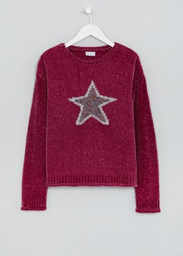 Girls Star Chenille Jumper (4-13yrs)