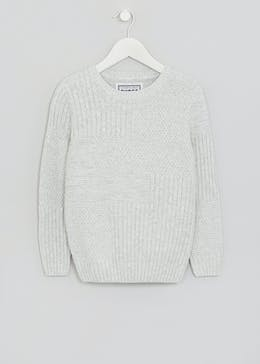 Boys Textured Front Jumper (4-13yrs)