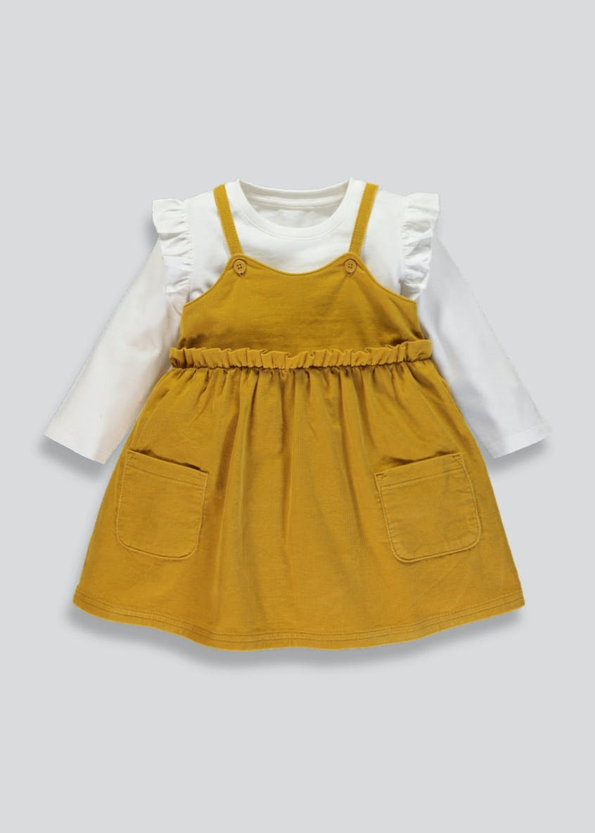 Girls Cord Pinafore & T-Shirt Set (3mths-3yrs)