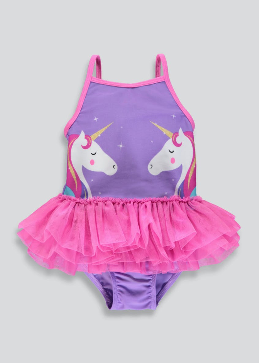 Girls Unicorn Tutu Swimming Costume (3mths-6yrs)