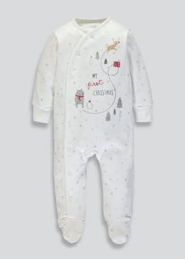 Unisex My First Christmas Sleepsuit (Newborn-12mths)