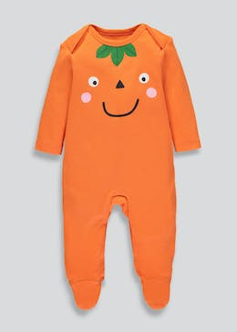 Unisex Pumpkin Halloween Sleepsuit (Tiny Baby-9mths)