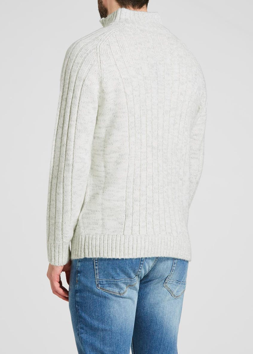 Ribbed Half Zip Jumper
