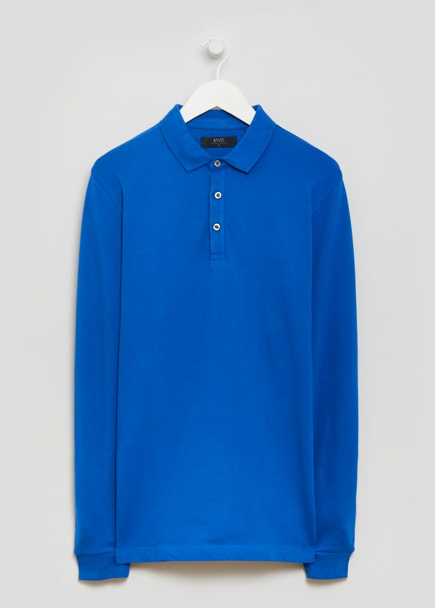 Big & Tall Stretch Long Sleeve Polo Shirt