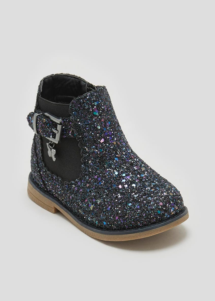 Girls Glitter Chelsea Boots (Younger 4-12)