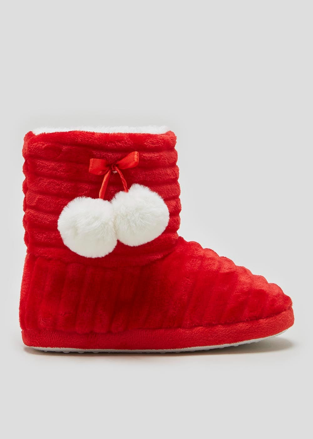 Christmas Boots For Girls.Girls Santa Christmas Slipper Boots Younger 10 Older 5
