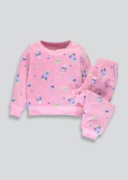 Kids Space Bunny Fleece Pyjama Set (12mths-5 yrs)