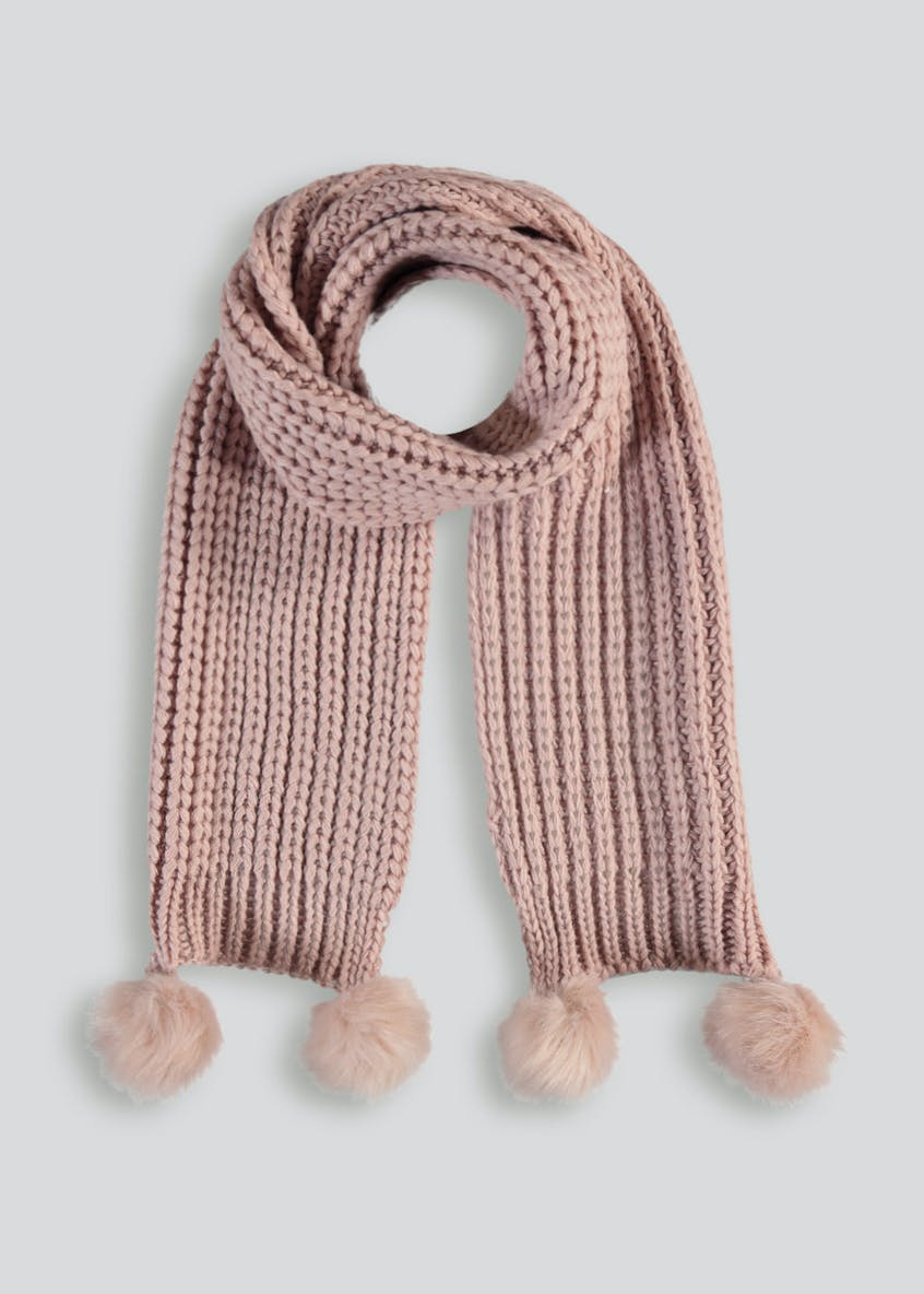 Girls Pom Pom Scarf (3-13yrs)