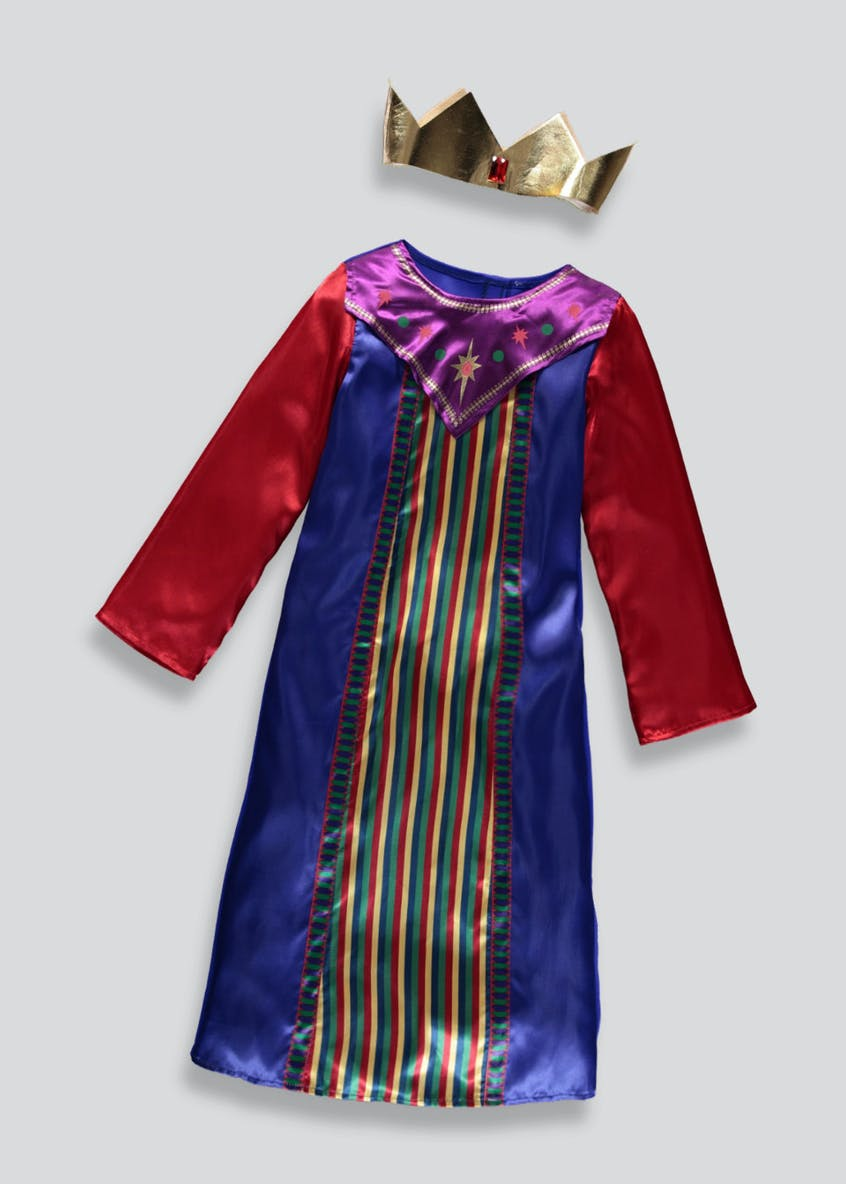 Kids Christmas King Fancy Dress Costume (3-9yrs)