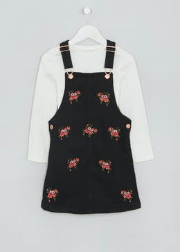 Girls Embroidered Pinafore Set (4-13yrs)
