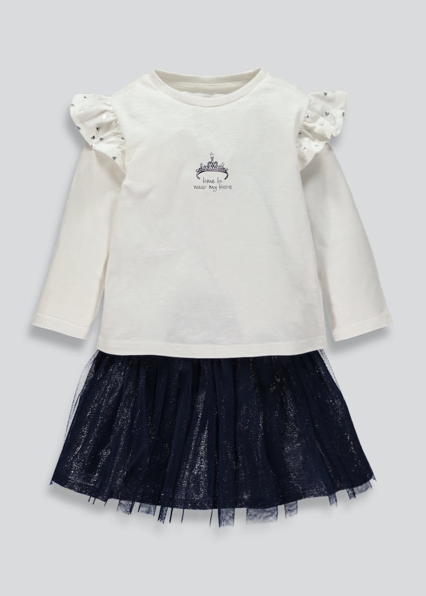 Girls Tutu Skirt & Frill Top Set (9mths-6yrs)