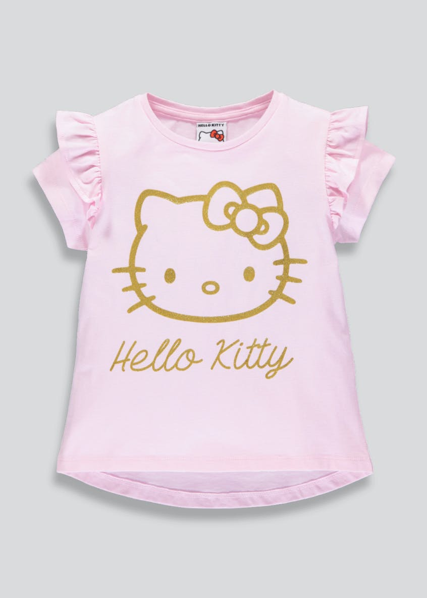 Kids Hello Kitty Frill Sleeve T-Shirt (2-9yrs)