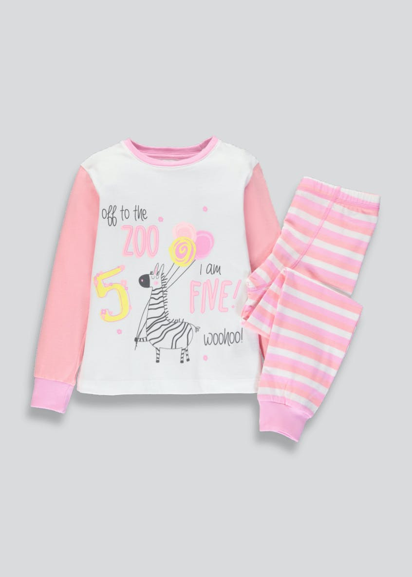 Girls I am 5 Zebra Pyjama Set (5yrs)