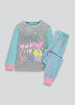 Girls I am 6 Mermaid Pyjama Set (6yrs)