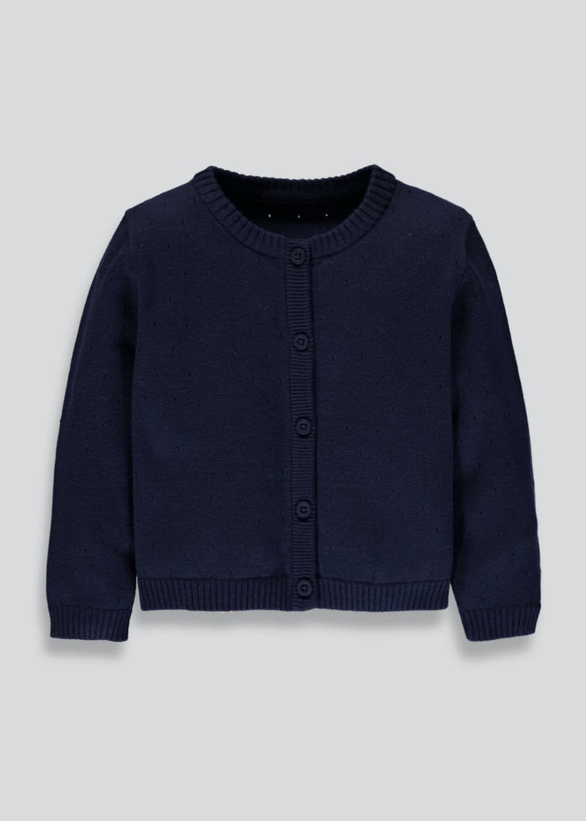 Girls Pointelle Cardigan (3mths-10yrs)