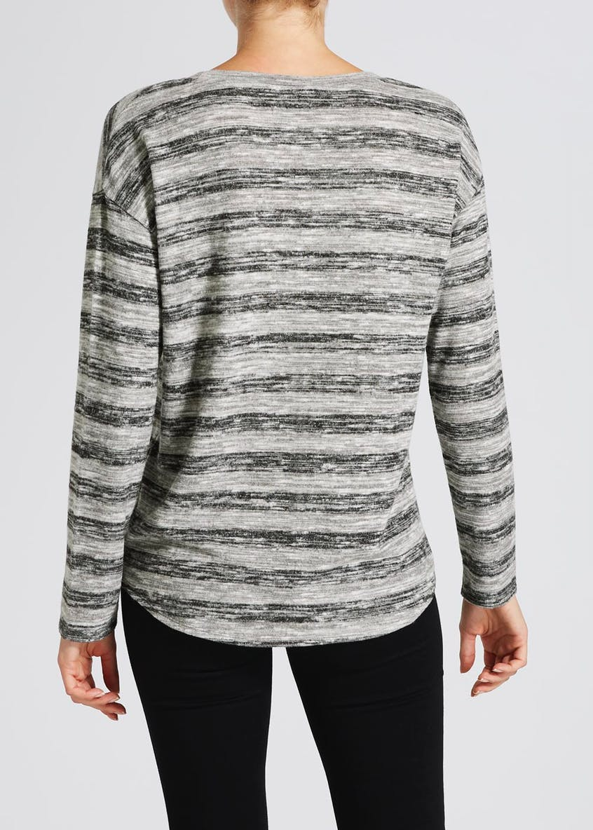 Soft Touch Stripe Sweatshirt