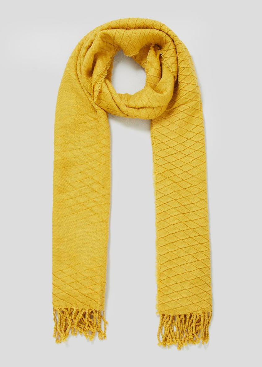 Embossed Pleat Woven Scarf