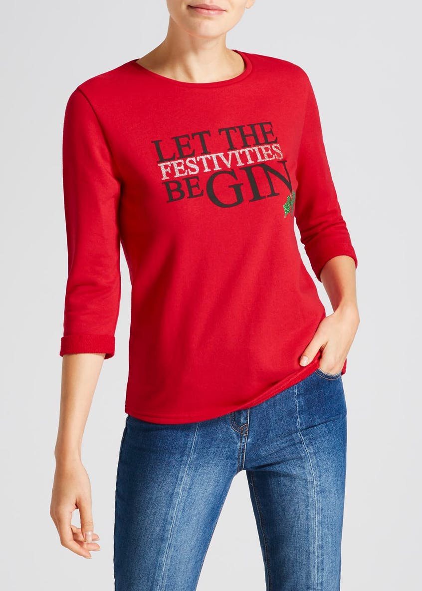 Gin Slogan Christmas Sweatshirt