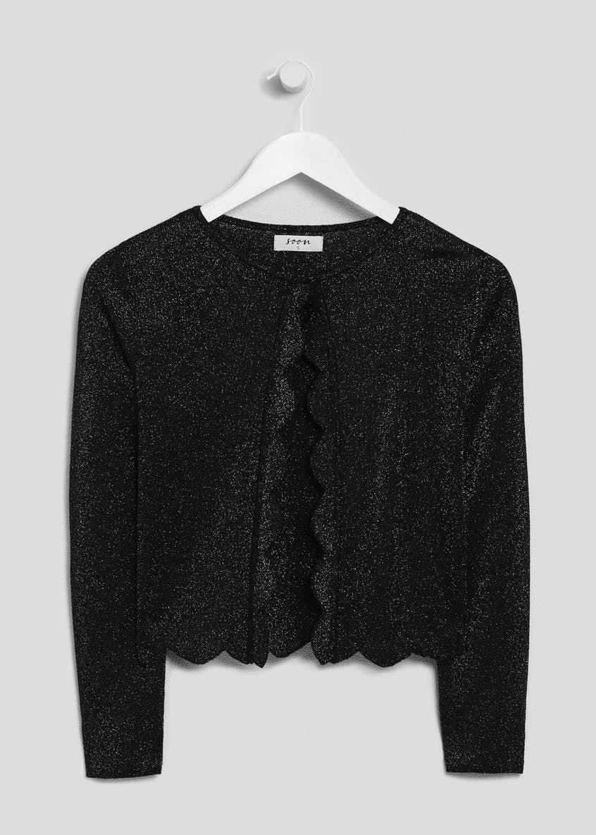 Soon Lurex Cropped Occasion Cardigan