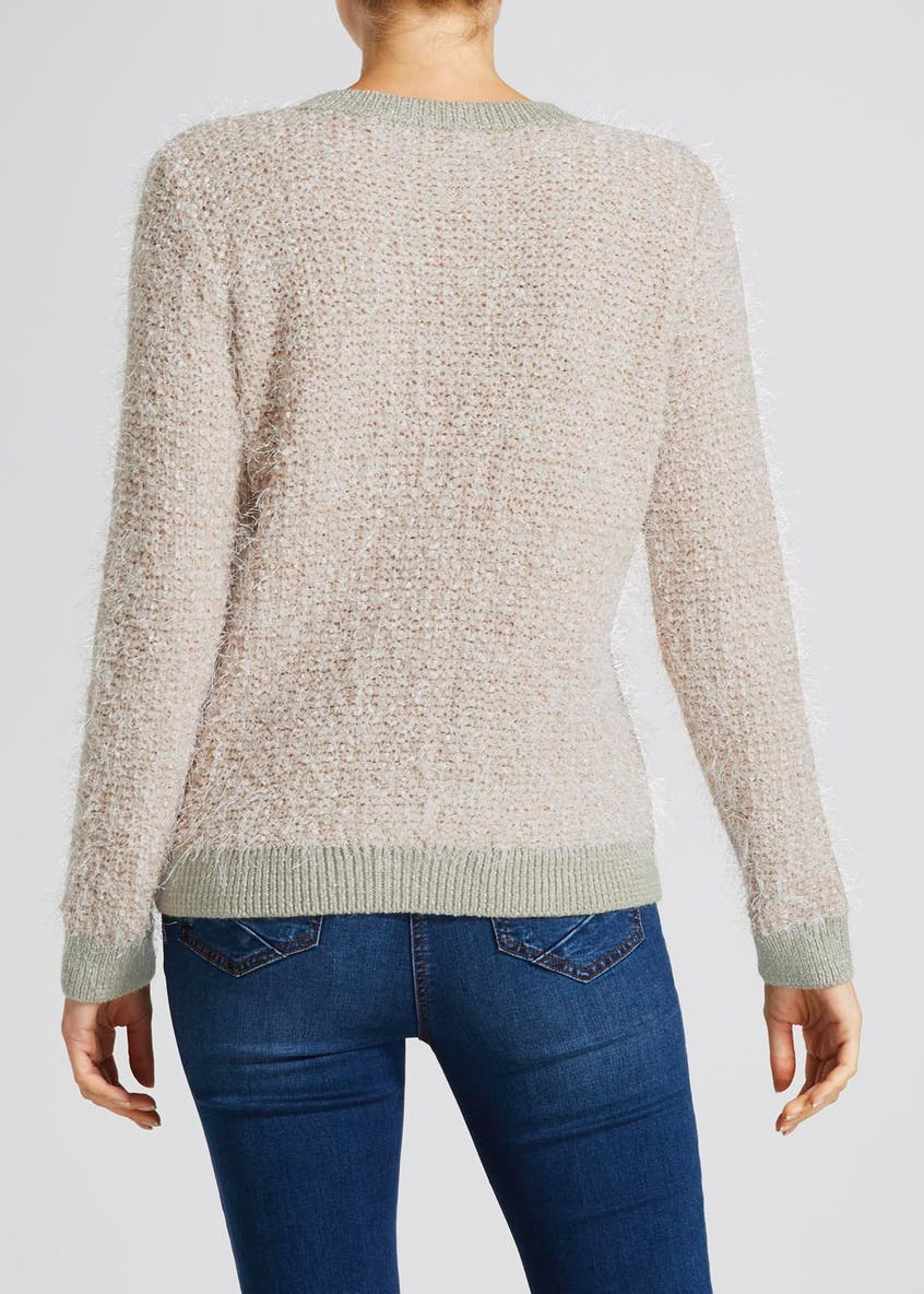 Lurex Fluffy Eyelash Knit Jumper