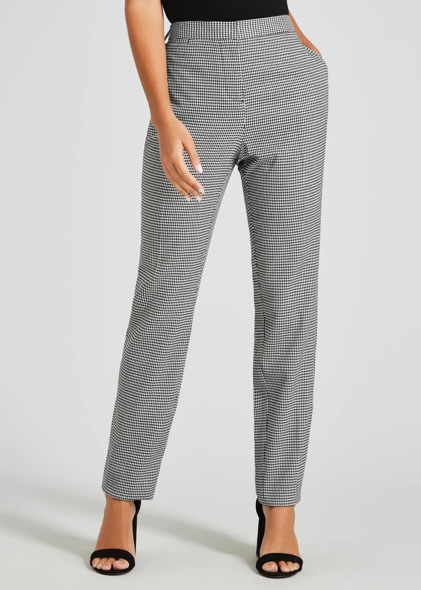 Dogtooth Check Slim Fit Trousers (31 Inch Leg)