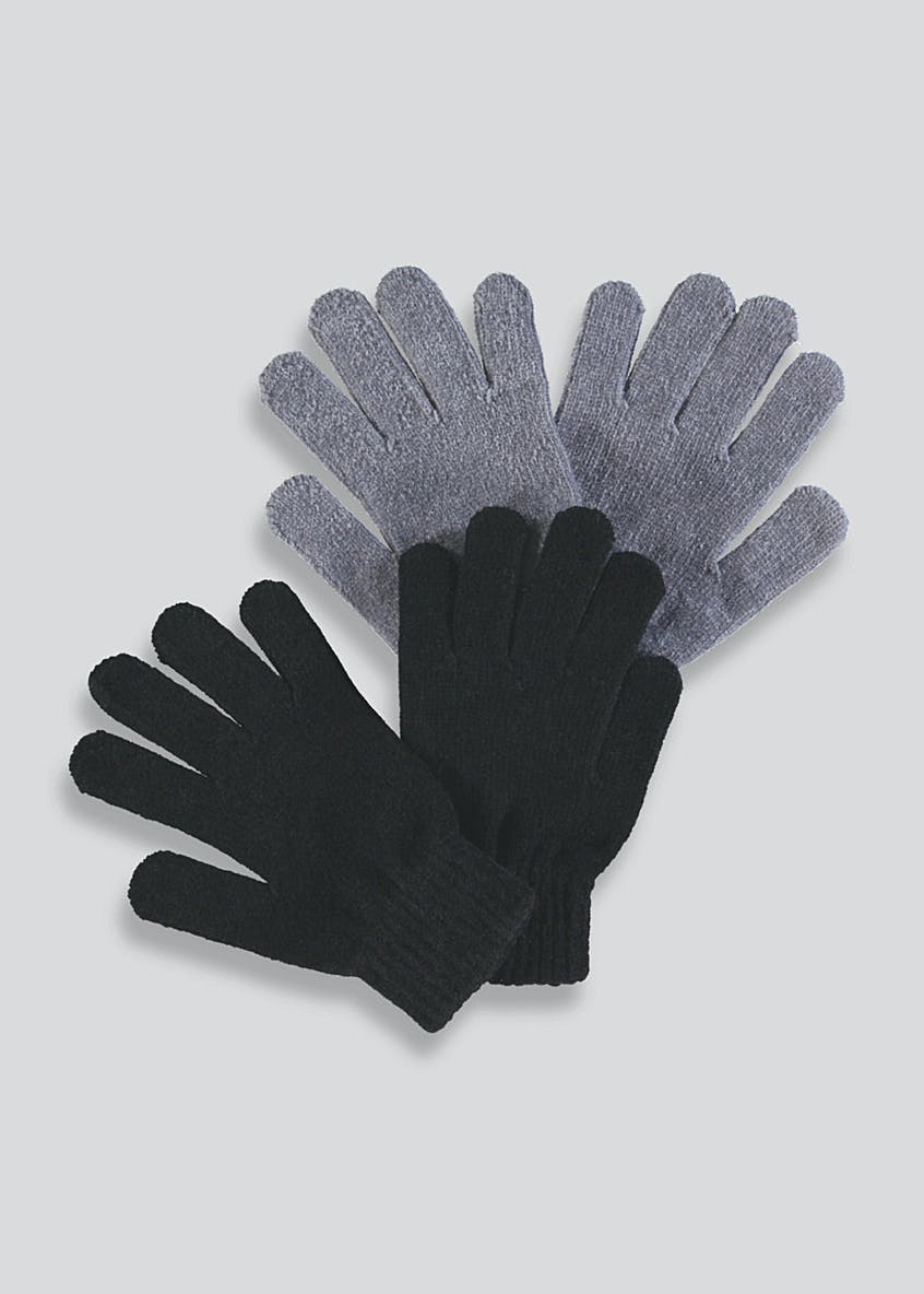 Ladies 2 Pack Chenille Magic Gloves (One Size)