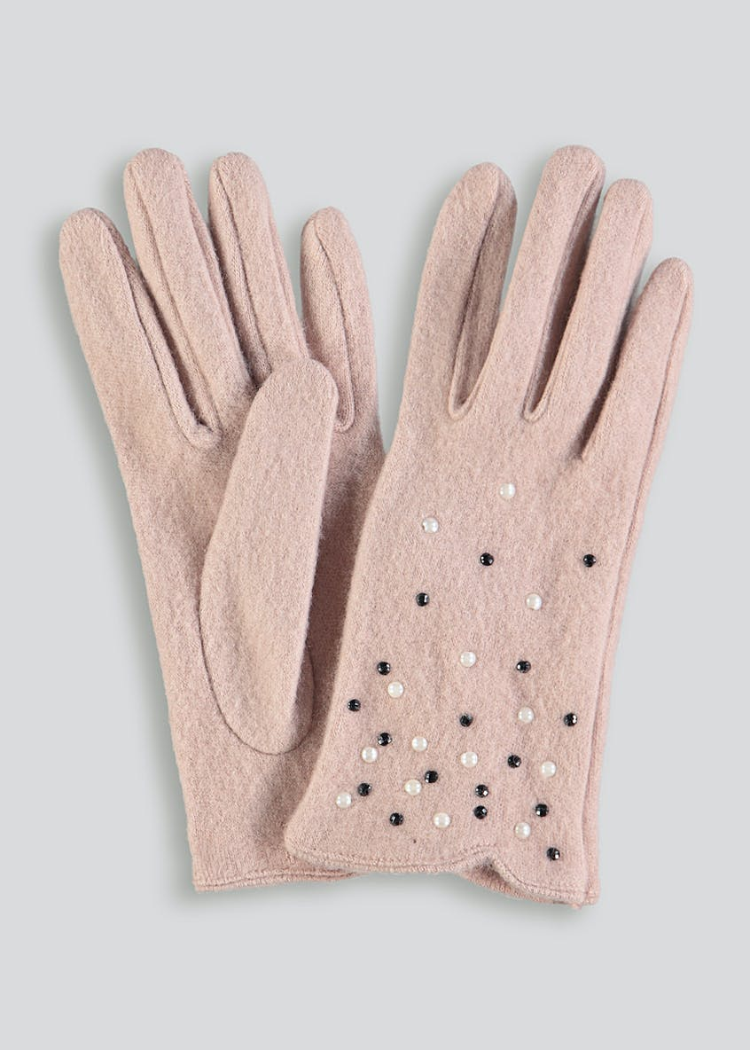 Diamante and Pearl Gloves