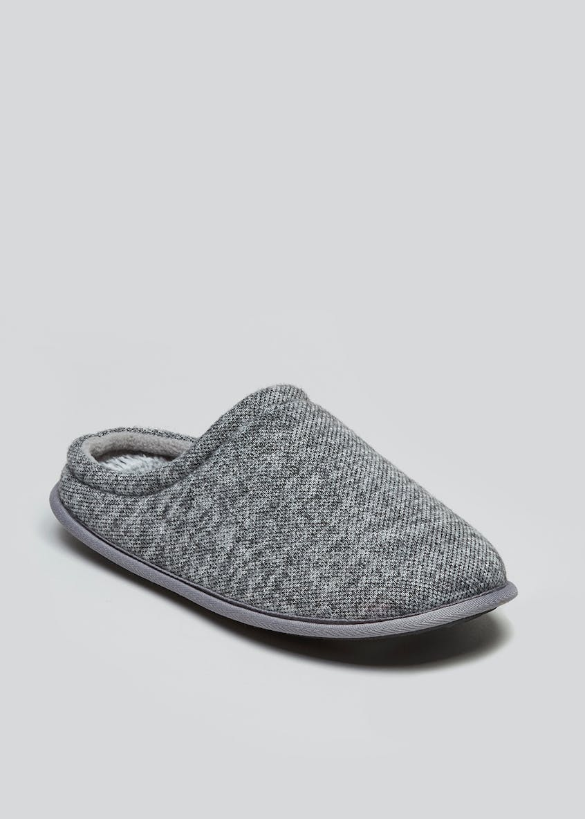 Memory Foam Knitted Mule Slippers