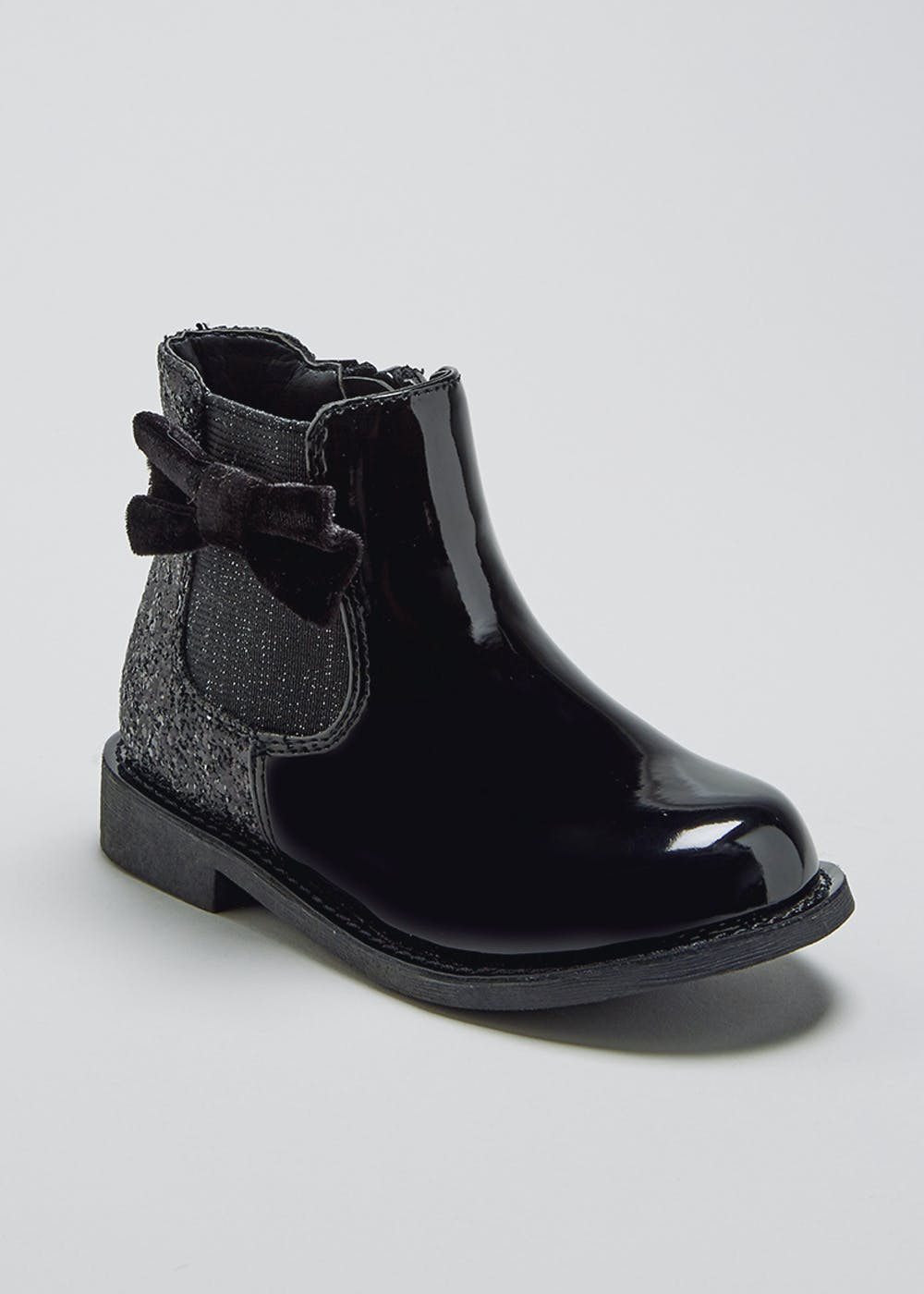 e77112ade62d Girls Patent Ankle Boots (Younger 4-12) – Black – Matalan