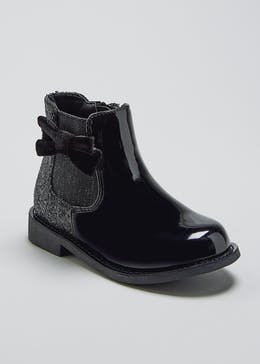 Girls Patent Ankle Boots (Younger 4-12)