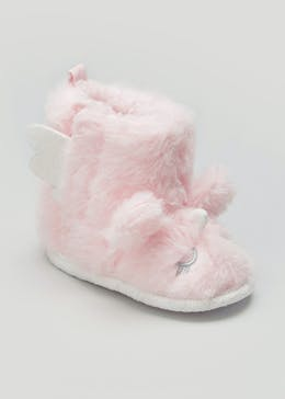 Kids Unicorn Soft Sole Slipper Boots (Newborn-18mths)