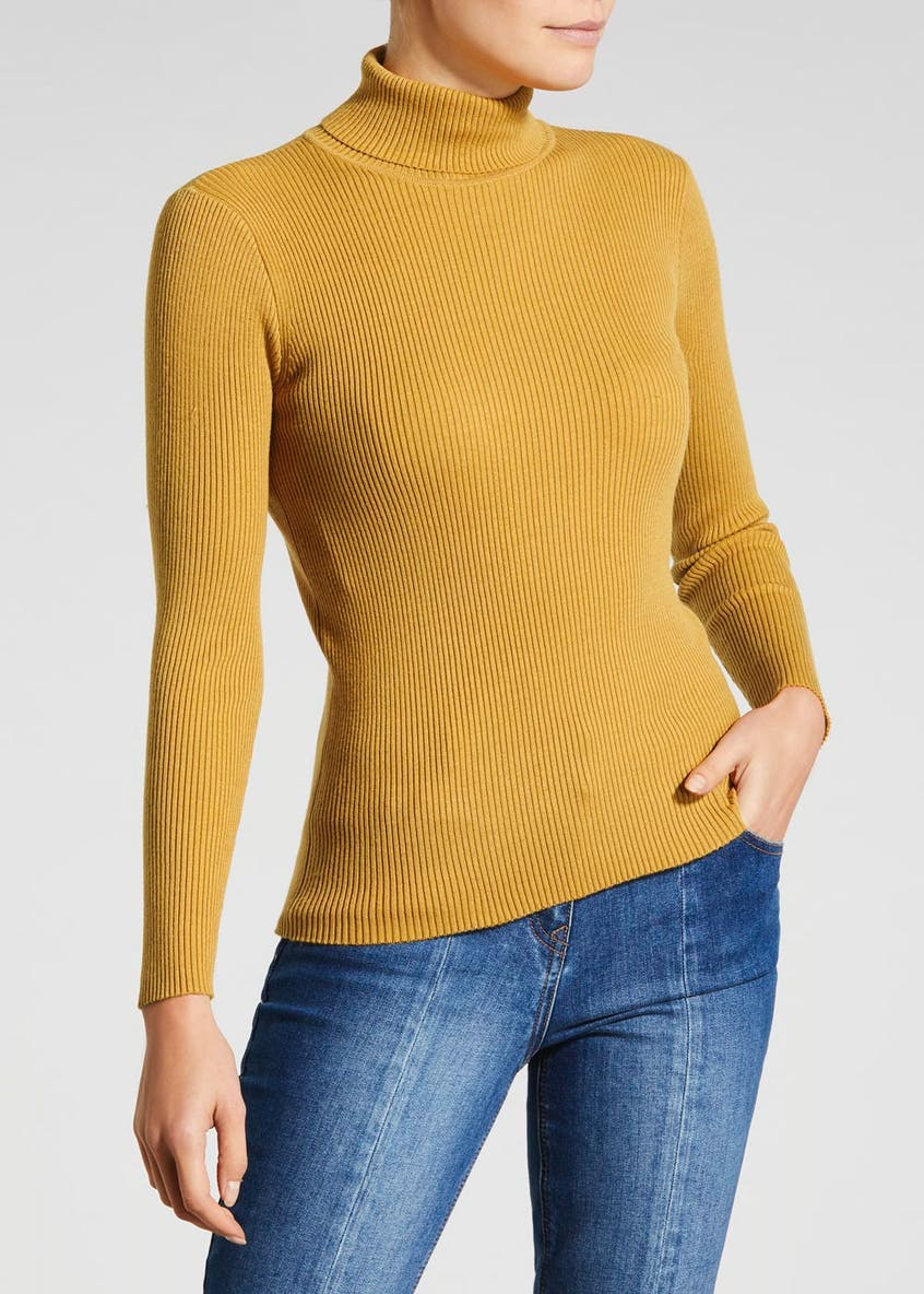 Ribbed Roll Neck Top