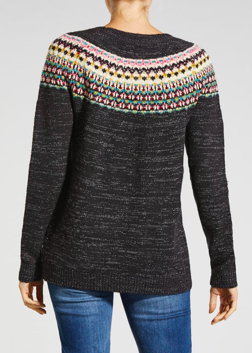Lurex Fair Isle Jumper