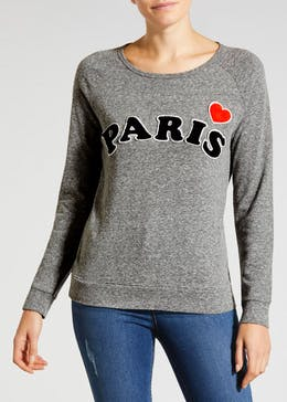 Paris Slogan Sweatshirt