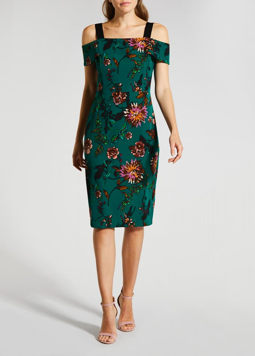 Soon Floral Bardot Shift Dress