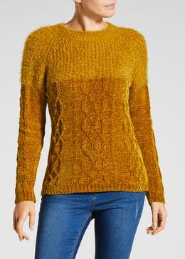 Cable Chenille Jumper