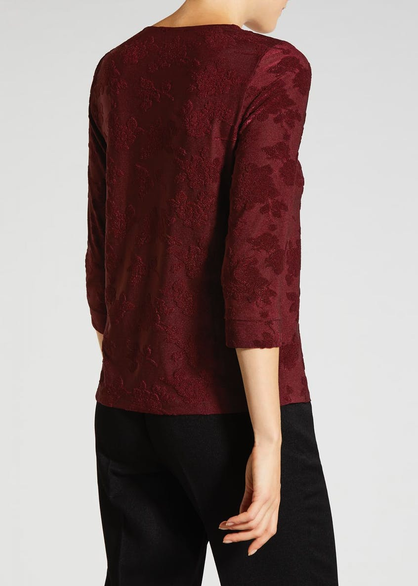 Jacquard Burnout Top
