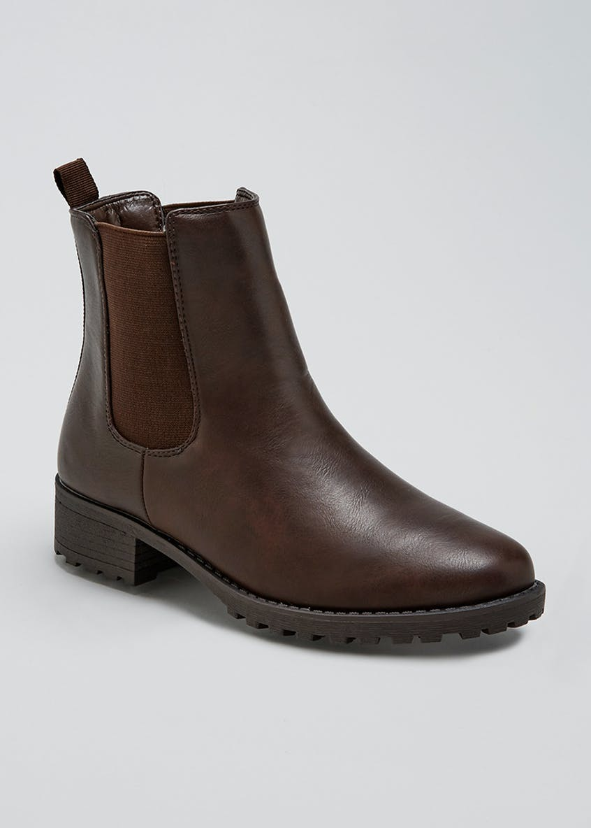 Cleated Sole Chelsea Boots
