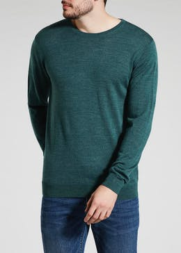 100  Merino Wool Crew Neck Jumper