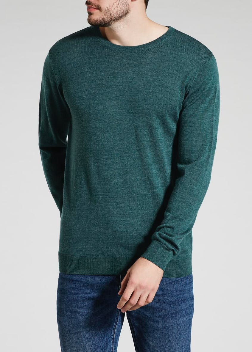 100% Merino Wool Crew Neck Jumper