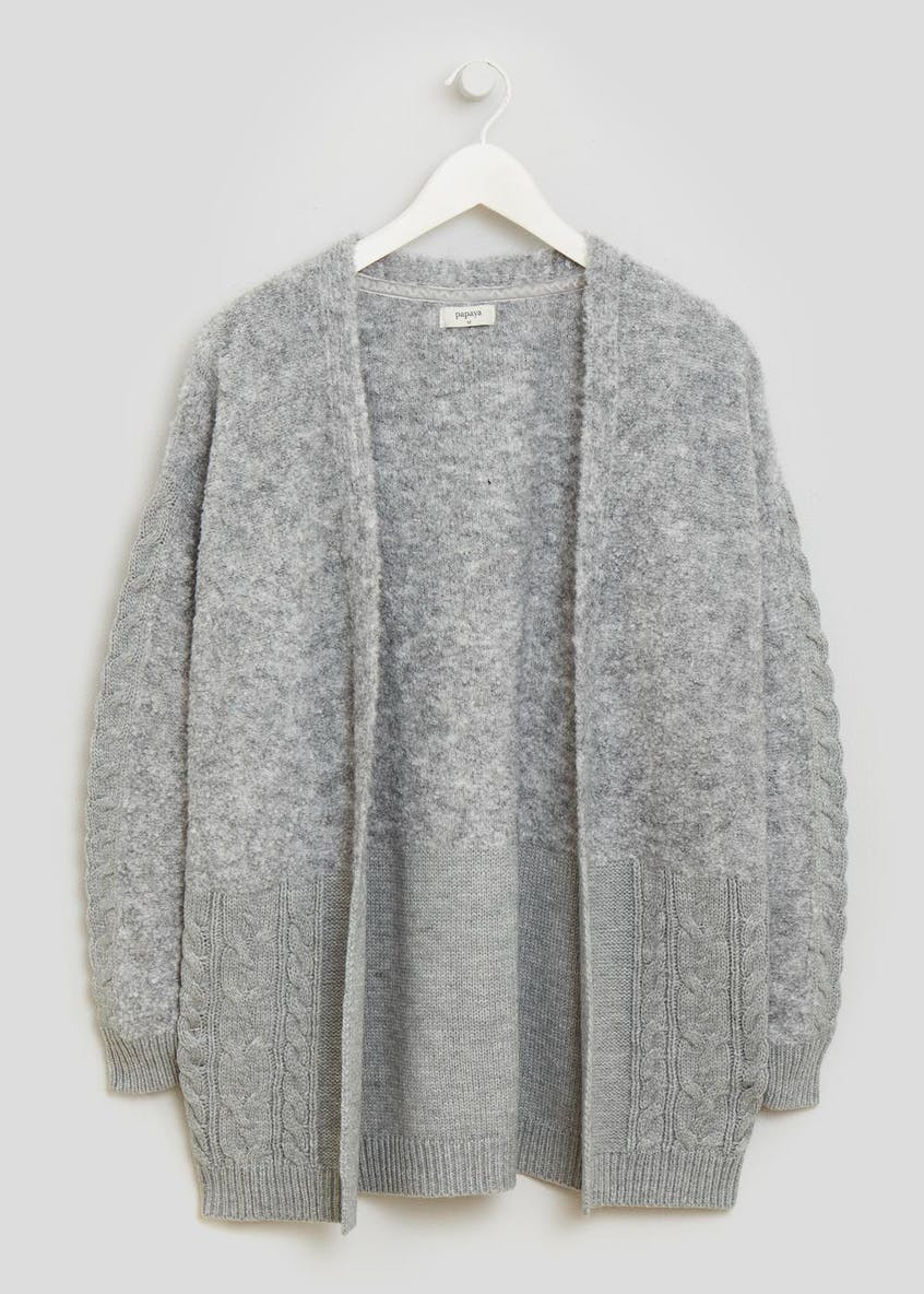Contrast Cable Edge to Edge Cardigan