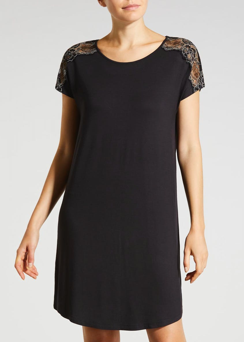 Lace Insert Viscose Nightie