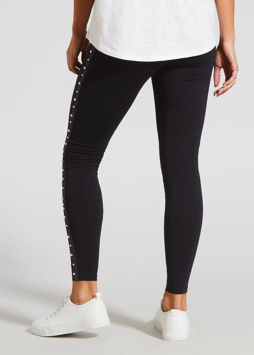 Metallic Tape Side Leggings