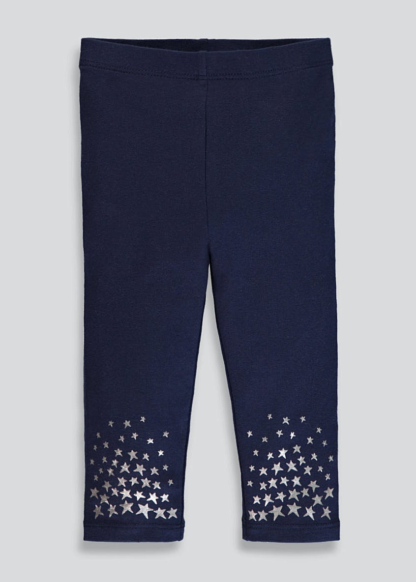 Girls Foil Star Leggings (3mths-6yrs)