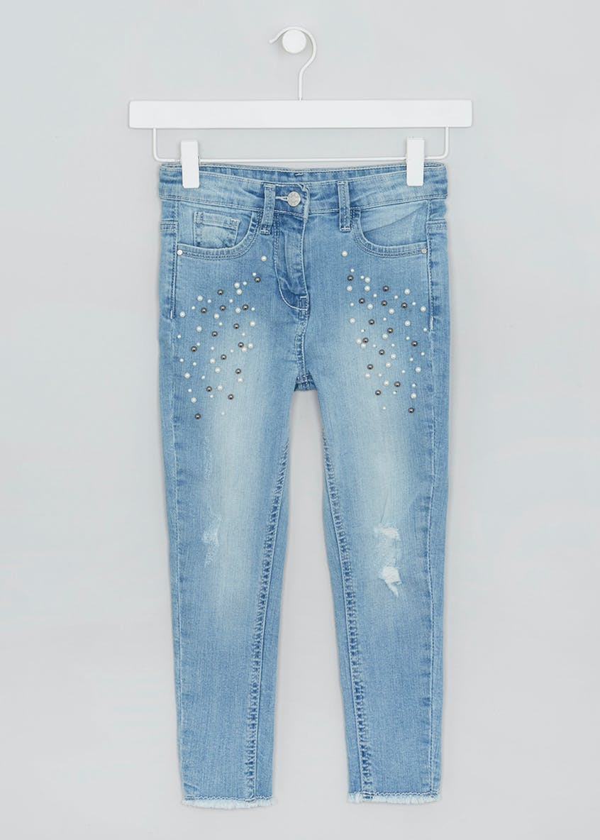 Girls Pearl Applique Jeans (4-13yrs)