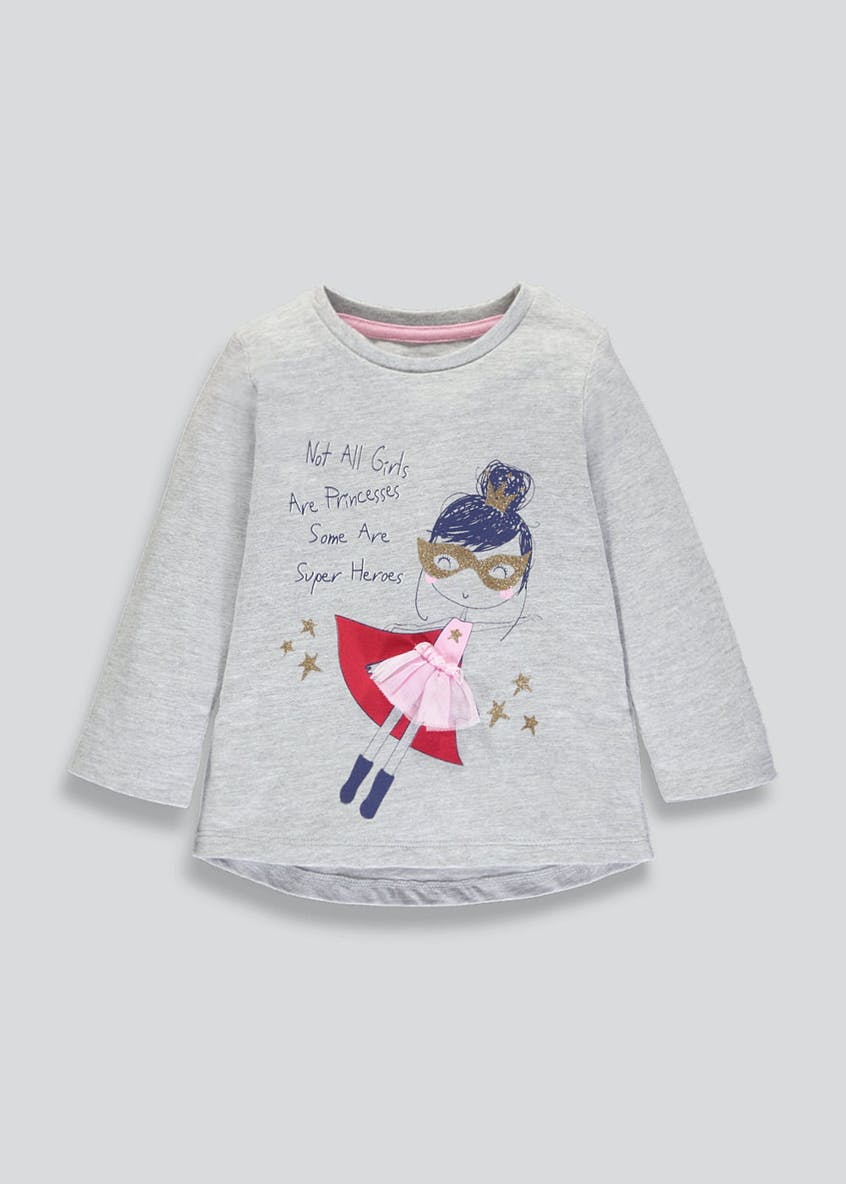 Girls Superhero Princess T-Shirt (3mths-6yrs)